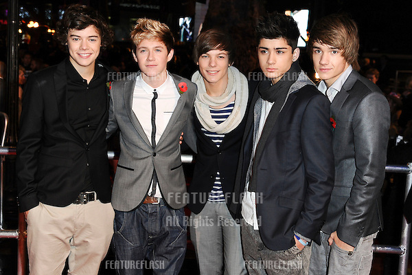 One Direction arriving for the world premiere of 'Harry Potter and the Deathly Hallows part 1' at the Odeon Leicester Square, London. 11/11/2010  Picture by: Steve Vas / Featureflash
