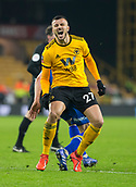 5th February 2019, Molineux Stadium, Wolverhampton, England; FA Cup football, 4th round replay, Wolverhampton Wanderers versus Shrewsbury Town; Romain Saiss of Wolverhampton Wanderers shouts out in pain from a tackle during the match