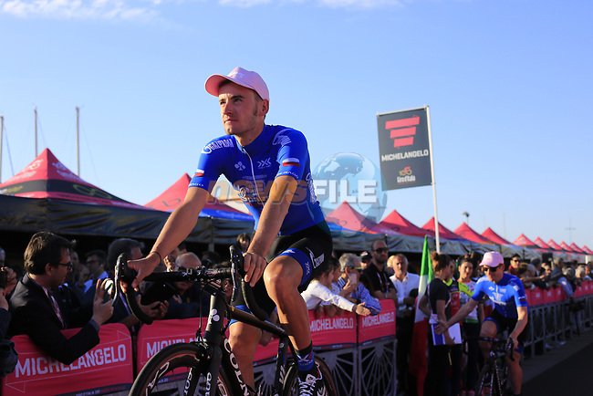 Gazprom Rusvelo at the Team Presentation in Alghero, Sardinia for the 100th edition of the Giro d'Italia 2017, Sardinia, Italy. 4th May 2017.<br /> Picture: Eoin Clarke   Cyclefile<br /> <br /> <br /> All photos usage must carry mandatory copyright credit (&copy; Cyclefile   Eoin Clarke)