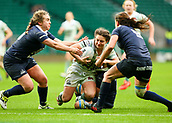 7th December 2017, Twickenham Stadium, London, England; The Womens Varsity Rugby Match, Cambridge versus Oxford;   Kate Marks scores Cambridge Women's 3rd try in the 63rd minute