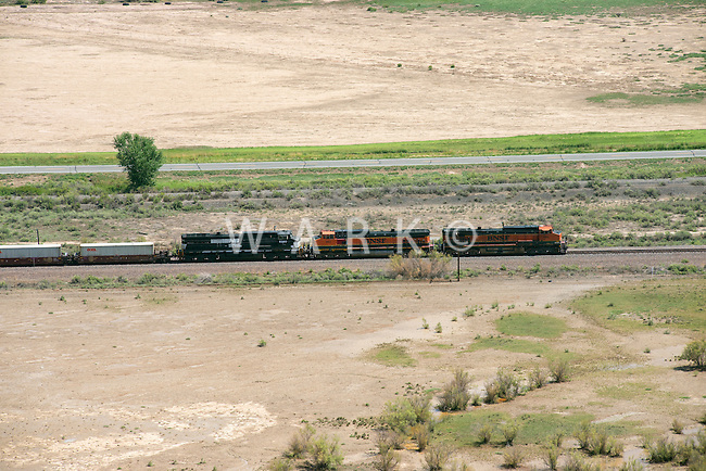 BNSF train eastbound Pueblo County, Colorado near Boone.  Aug 4, 2013.  80761
