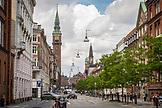 DENMARK, Copenhagen, Clocktower and buildings in Copenhagen, Europe
