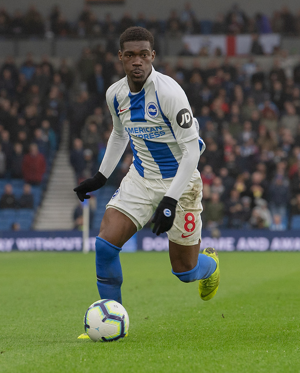 Brighton & Hove Albion's Yves Bissouma<br /> <br /> Photographer David Horton/CameraSport<br /> <br /> The Premier League - Brighton and Hove Albion v Huddersfield Town - Saturday 2nd March 2019 - The Amex Stadium - Brighton<br /> <br /> World Copyright © 2019 CameraSport. All rights reserved. 43 Linden Ave. Countesthorpe. Leicester. England. LE8 5PG - Tel: +44 (0) 116 277 4147 - admin@camerasport.com - www.camerasport.com