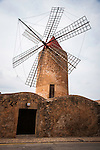 Traditional stone tower windmill, Algaida, Mallorca