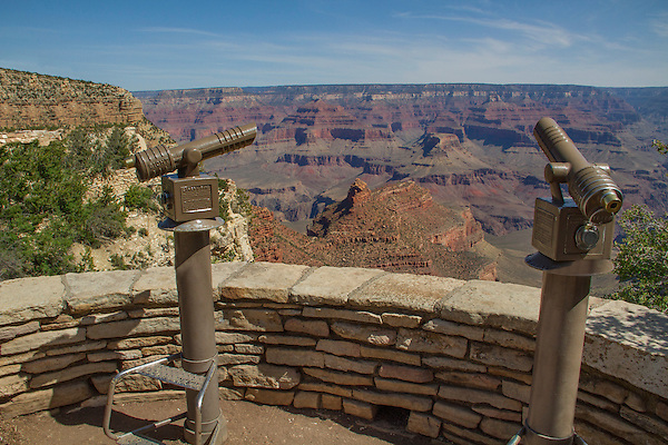 Telescopes along the South Rim, Grand Canyon National Park, Arizona, .  John offers private photo tours in Arizona and and Colorado. Year-round.