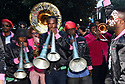 Arcade Fire's Win Butler and Régine Chassagne team up with Preservation Hall band for Krewe du Kanaval, a Haitan-themed New Orleans Mardi Gras parade through Treme and the French Quarter to benefit Haitian and New Orleans charities.