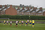 Horden Colliery Welfare 0 Billingham Synthonia 2, 24/10/2009. Welfare Park, Northern League Division One. Action from the Northern League division one fixture between Horden Colliery Welfare (red) and Billingham Synthonia, at Welfare Park, Horden. Horden won division two in the previous season but lost this fixture 2-0 against their higher-placed opponents. Photo by Colin McPherson.