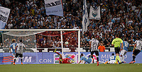 Calcio, finale Tim Cup: Juventus vs Lazio. Roma, stadio Olimpico, 20 maggio 2015.<br /> Juventus' Alessandro Matri, right, scores the winning goal in the extra time of the Italian Cup final football match between Juventus and Lazio at Rome's Olympic stadium, 20 May 2015. Juventus won 2-1.<br /> UPDATE IMAGES PRESS/Isabella Bonotto