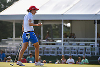 Carlota Ciganda (ESP) after sinking her putt on 18 during round 4 of the 2019 US Women's Open, Charleston Country Club, Charleston, South Carolina,  USA. 6/2/2019.<br /> Picture: Golffile | Ken Murray<br /> <br /> All photo usage must carry mandatory copyright credit (© Golffile | Ken Murray)