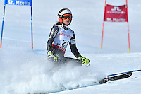 February 16, 2017: Coralie FRASSE SOMBET (FRA) skis off the course in the women's giant slalom event at the FIS Alpine World Ski Championships at St Moritz, Switzerland. Photo Sydney Low