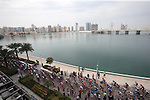 The start of Stage 2 the Nation Towers Stage of the 2017 Abu Dhabi Tour, running 153km around the city of Abu Dhabi, Abu Dhabi. 24th February 2017<br /> Picture: ANSA/Matteo Bazzi | Newsfile<br /> <br /> <br /> All photos usage must carry mandatory copyright credit (&copy; Newsfile | ANSA)