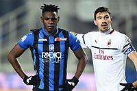 Christian Zapata of AC Milan , Alessio Romagnoli of Ac Milan <br /> Bergamo 16-02-2019 Stadio Atleti Azzurri d'Italia <br /> Football Serie A 2018/2019 Atalanta - Milan  <br /> Foto Image Sport / Insidefoto