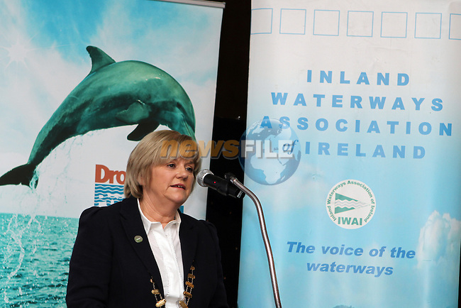 Vice President of the Inland Waterways Association of Ireland during the IWAI Power Boat Branch visit to Drogheda...(Photo credit should read Jenny Matthews/NEWSFILE)...