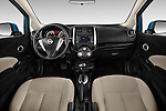 Straight dashboard view of a 2014 Nissan Versa Note SV SL Hatchback 2014 Nissan Versa Note SV SL Hatchback