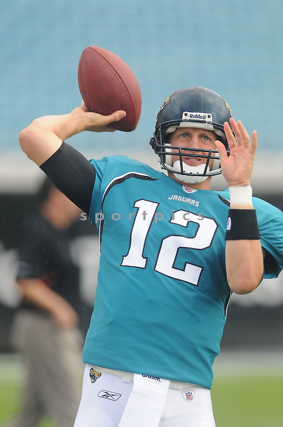 LUKE MCCOWN,of the Jacksonvile Jaguarss , in action during the Jaguars game against the Arizona Cardinalss on September 20, 2009 Jacksonvile, FL.  The Cardinals beat the Jaguars 31-17.