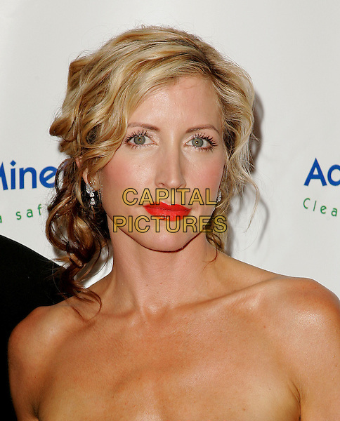 HEATHER MILLS McCARTNEY.The 4th Annual Benefit Gala for Adopt-A-Minefield held at The Century Plaza Hotel in Century City, California.October 15th, 2004.headshot, portrait, strapless, red lipstick.www.capitalpictures.com.sales@capitalpictures.com.©Debbie Van Story/Capital Pictures
