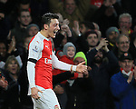 Arsenal's Mesur Ozil celebrates scoring his sides second goal<br /> <br /> Barclays Premier League- Arsenal vs AFC Bournemouth - Emirates Stadium - England - 28th December 2015 - Picture - David Klein/Sportimage