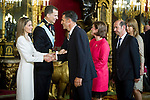 First official act of the Kings Felipe VI and Letizia Ortiz, waving at Miguel Indurain. Royal Palace. Madrid. 06/19/2014. Samuel Roman/Photocall3000