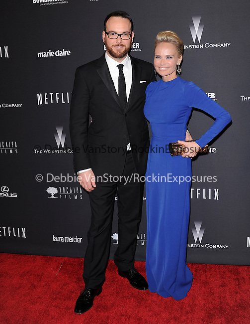 Dana Brunetti and Kristin Chenoweth<br /> <br /> <br />  attends THE WEINSTEIN COMPANY & NETFLIX 2014 GOLDEN GLOBES AFTER-PARTY held at The Beverly Hilton Hotel in Beverly Hills, California on January 12,2014                                                                               © 2014 Hollywood Press Agency