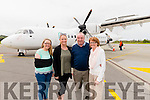 L-R Karen, Claire, Gerard and Marguerite Brosnan just minutes after arriving to Kerry Airport from Australia.
