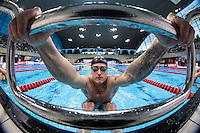 Picture by Alex Whitehead/SWpix.com - 14/04/2015 - British Swimming Championships 2015 - London Aquatics Centre, Queen Elizabeth Park, England - Chris Walker-Hebborn prepares to compete in the Men's 100m Backstroke Final.
