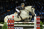 Jacqueline Lai of Hong Kong riding Der Senaat competes during the EEM Trophy, part of the Longines Masters of Hong Kong on 10 February 2017 at the Asia World Expo in Hong Kong, China. Photo by Marcio Rodrigo Machado / Power Sport Images