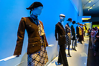Daytime outfits, Yves Saint Laurent: The Retrospective, a sweeping retrospective of the designer's 40 years of creativity, featuring a stunning selection of 200 haute couture garments, Denver Art Museum, Denver, Colorado USA (DAM was the only U.S. location to show this exhibition).