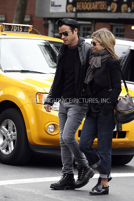 WWW.ACEPIXS.COM ************....September 16 2011, New York City....Actors Jennifer Aniston and Justin Theroux talk a stroll in their new West Village neighborhood on September 16 2011 in New york City....Please byline: CURTIS MEANS - ACEPIXS.COM.. *** ***  ..Ace Pictures, Inc:  ..tel: (646) 769 0430..e-mail: info@acepixs.com..web: http://www.acepixs.com