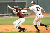 SAN ANTONIO, TX - MAY 2, 2009: The Texas State University Bobcats vs. The University of Texas at San Antonio Roadrunners Baseball at Roadrunner Field. (Photo by Jeff Huehn)