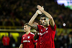 10.11.2018, Signal Iduna Park, Dortmund, GER, 1.FBL, Borussia Dortmund vs FC Bayern M&uuml;nchen, DFL REGULATIONS PROHIBIT ANY USE OF PHOTOGRAPHS AS IMAGE SEQUENCES AND/OR QUASI-VIDEO<br /> <br /> im Bild | picture shows:<br /> Javi Martinez (Bayern #8) bedankt sich nach dem Spiel bei den mitgereisten Fans, <br /> <br /> Foto &copy; nordphoto / Rauch