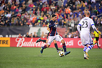 September 9, 2017 - Foxborough, Mass: New England Revolution midfielder Lee Nguyen (24) in game action during the MLS game between the Montreal Impact and the New England Revolution held at Gillette Stadium in Foxborough Massachusetts. Revolution defeat Impact 1-0. Eric Canha/CSM