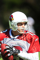 Jul 30, 2008; Flagstaff, AZ, USA; Arizona Cardinals quarterback Kurt Warner during training camp on the campus of Northern Arizona University. Mandatory Credit: Mark J. Rebilas-