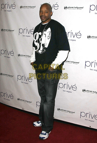 """WARREN G .Snoop Dogg kicks off """"We Rock Hip Hop Monday's"""" at Prive Las Vegas inside the Planet Hollywood Resort Hotel and Casino, Las Vegas, Nevada, USA, .19th January 2009..full length jeans trainers black white t-shirt long sleeved .CAP/ADM/MJT.©MJT/Admedia/Capital Pictures"""