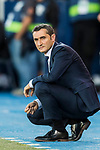 Coach Luis Ernesto Valverde Tejedor of FC Barcelona reacts during the La Liga 2017-18 match between CD Leganes vs FC Barcelona at Estadio Municipal Butarque on November 18 2017 in Leganes, Spain. Photo by Diego Gonzalez / Power Sport Images