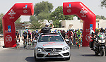 Km0 and the start of Stage 3, The Al Ain Stage, of the 2015 Abu Dhabi Tour starting from the Al Qattara Souq in Al Ain and running 129 km to the mountain top finish at Jebel Hafeet at 1025 metres, Abu Dhabi. 10th October 2015.<br /> Picture: ANSA/Claudio Peri | Newsfile
