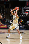 Mitchell Wilbekin (10) of the Wake Forest Demon Deacons during first half action against the Mount St. Mary's Mountaineers at the LJVM Coliseum on November 26, 2014 in Winston-Salem, North Carolina.  The Demon Deacons defeated the Mountaineers 83-49.   (Brian Westerholt/Sports On Film)