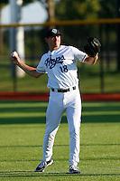 Blake Forslund #18 of the Hillsboro Hops before a game against the Spokane Indians at Hillsboro Ballpark on July 22, 2013 in Hillsboro Oregon. Spokane defeated Hillsboro, 11-3. (Larry Goren/Four Seam Images)