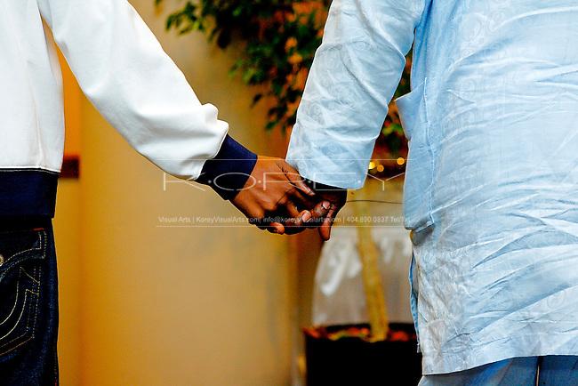 Wedding photographs of Toke Mayaki and BJ Adeyemo at The Resurrection House for All Nations and the Sheraton Hotel Atlanta