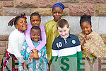Pictured at Africa day in Presentation Primary, Tralee on Saturday were l-r: Shannon Oba, Kerry Oba, Tobi Obadina, Basit Karee, James Moran, Ibukun Odugbesan.