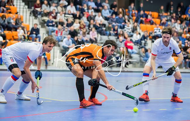 ROTTERDAM  - NK Zaalhockey,   halve finale heren Oranje Rood-SCHC (SCHC wint en plaatst zich voor de finale) . Benjamin Stanzl (Oranje-Rood)    COPYRIGHT KOEN SUYK