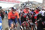 The start of the 2019 Gent-Wevelgem in Flanders Fields running 252km from Deinze to Wevelgem, Belgium. 31st March 2019.<br /> Picture: Eoin Clarke | Cyclefile<br /> <br /> All photos usage must carry mandatory copyright credit (© Cyclefile | Eoin Clarke)