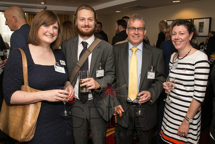 From left are Kate Tyler and Kai Sanders of Shake Social, Andrew Davies of T&R Lincoln and Finola Brady, Finola Brady Architectural Services