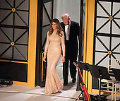 President-elect of The United States Donald J. Trump First Lady-elect of The United States arrive at a &quot;Candlelight&quot; dinner to thank donors in Washington, DC, January 19, 2017. <br /> Credit: Chris Kleponis / Pool via CNP