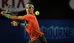 Rafael Nadal (ESP) defeats Thanasi Kokkinakis (AUS) 6-2, 6-4, 6-2 at the Australian Open in Melbourne, Australia on January 16, 2014