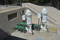 NWA Democrat-Gazette/MICHAEL WOODS &bull; @NWAMICHAELW<br /> The water intake pumps at the North intake facility on Beaver Lake Thursday September 17, 2015.  The North facility was built in 2005, each pump is capable of 14 million gallons of water per day.