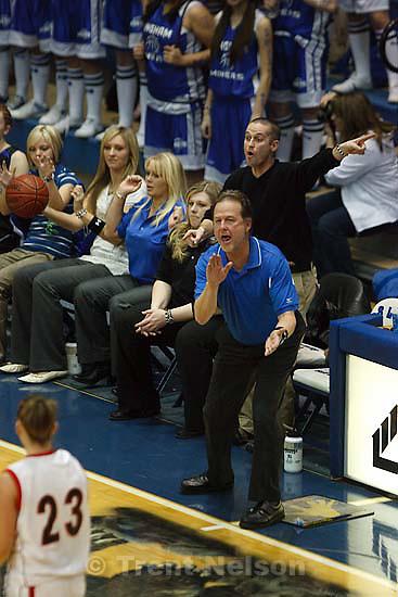Taylorsville - Bingham vs. Weber High School girls basketball, 5A State Championship tournament Thursday February 26, 2009 at Salt Lake Community College..Bingham Coach Rand Rasmussen