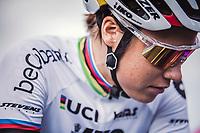 Sanne Cant (BEL/Beobank-Corendon) pre race focus.<br /> <br /> women's race.<br /> Koppenbergcross Belgium 2018