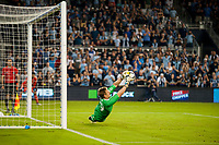 Kansas City, KS - Wednesday August 9, 2017: Tim Melia during a Lamar Hunt U.S. Open Cup Semifinal match between Sporting Kansas City and the San Jose Earthquakes at Children's Mercy Park.