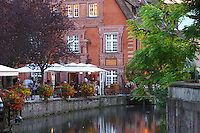 terrace little venice' jys restaurant q de la poissonnerie colmar alsace france