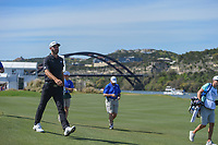 Dustin Johnson (USA) watches his approach shot on 14 during round 1 of the World Golf Championships, Dell Match Play, Austin Country Club, Austin, Texas. 3/21/2018.<br /> Picture: Golffile | Ken Murray<br /> <br /> <br /> All photo usage must carry mandatory copyright credit (&copy; Golffile | Ken Murray)